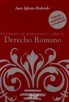 portada Diccionario de Definiciones y Reglas de Derecho Romano