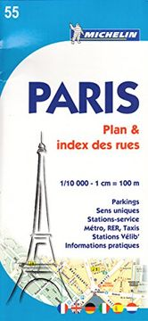 portada plan paris + (index rues) 55