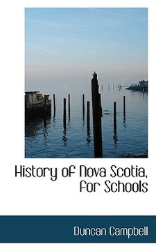 portada history of nova scotia, for schools