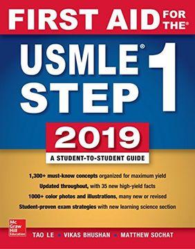 portada First aid for the Usmle Step 1 2019,  Twenty-Ninth Edition (libro en Inglés)