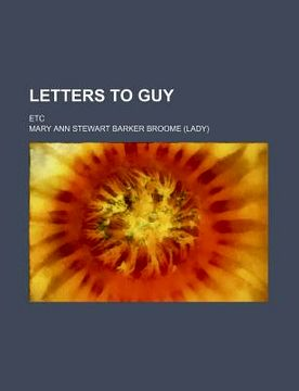 portada letters to guy; etc