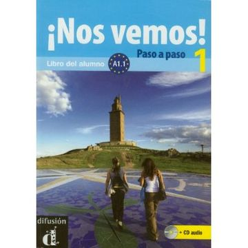 portada Nos Vemos! Paso a Paso 1. Nivel A1. 1. Libro del Alumno y Cuaderno de Ejercicios + cd (Ele - Texto Español)