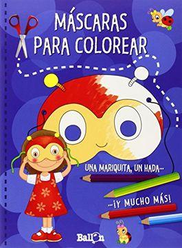 portada Mascaras Para Colorear (Azul)