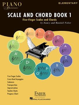 portada Faber Piano Adventures: Scale And Chord Book 1 - Five-Finger Scales And Chords