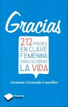 portada Gracias: 212 frases en calve femenina para celebrar la vida (Plataforma Editorial)