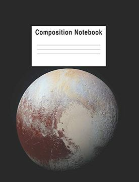 portada Composition Notebook: Planet Pluto (libro en inglés)