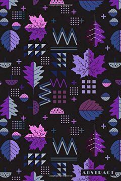 portada Abstract: Scandinavian Nordic Leaf Pattern Notebook Journal Diary for Men, Women, Teen & Kids (libro en inglés)