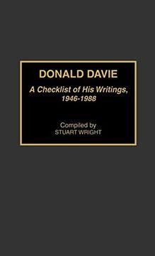 portada Donald Davie: A Checklist of his Writings, 1946-1988 (libro en Inglés)