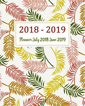 portada Planner July 2018 June 2019: Two Year - Daily Weekly Monthly Calendar Planner | 12 Months July 2018 to June 2019 for Academic Agenda Schedule.   (July 2018 to June 2019 Planner) (Volume 2) (libro en inglés)