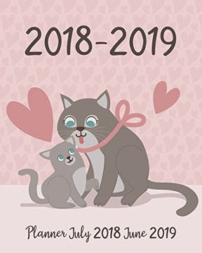 portada Planner July 2018 June 2019: Two Year - Daily Weekly Monthly Calendar Planner   12 Months July 2018 to June 2019 for Academic Agenda Schedule.   (July 2018 to June 2019 Planner) (Volume 4) (libro en inglés)